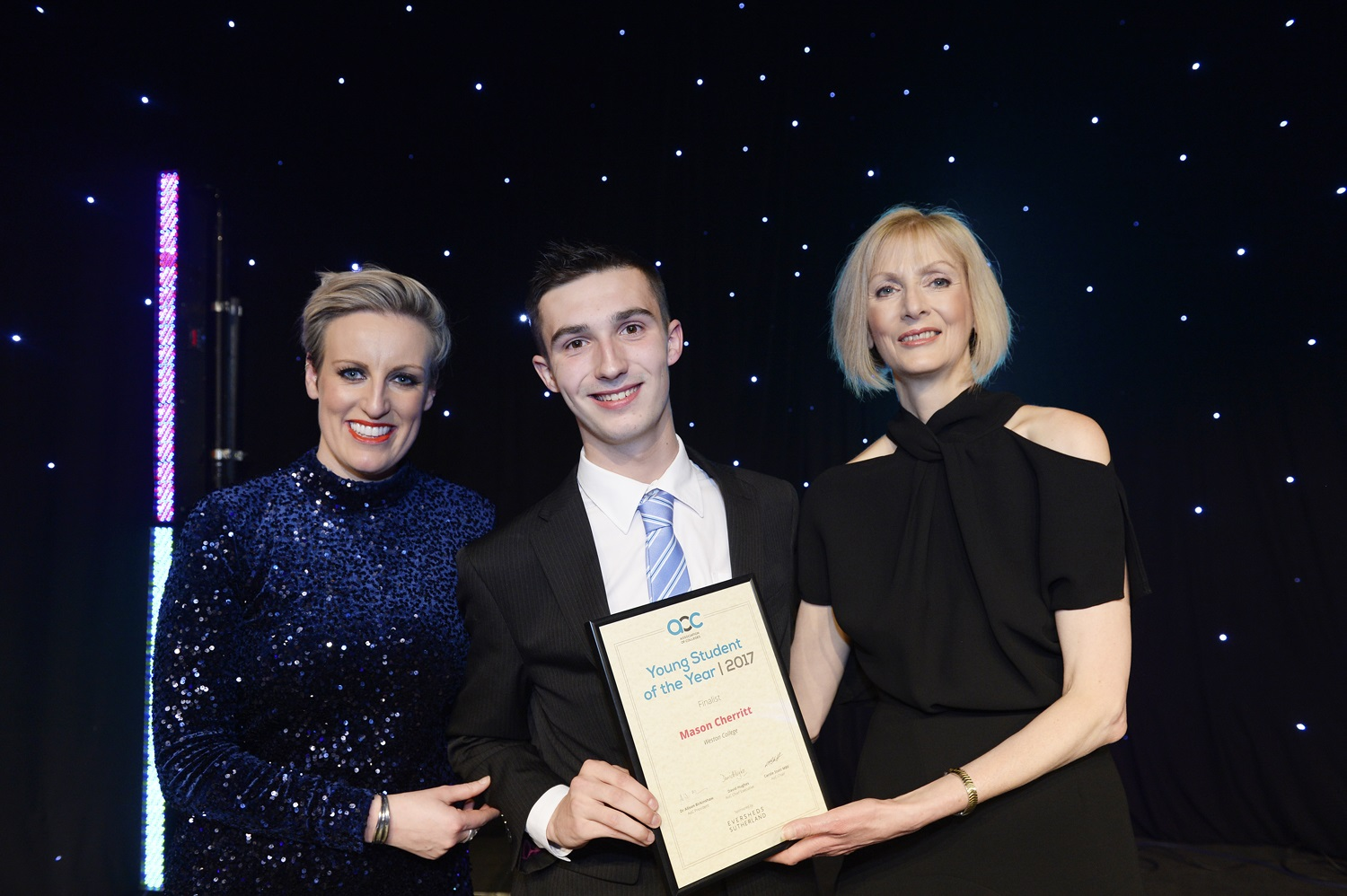 Weston College, Student of the Year finalist Mason Cherritt
