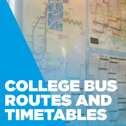 College bus routes and timetables