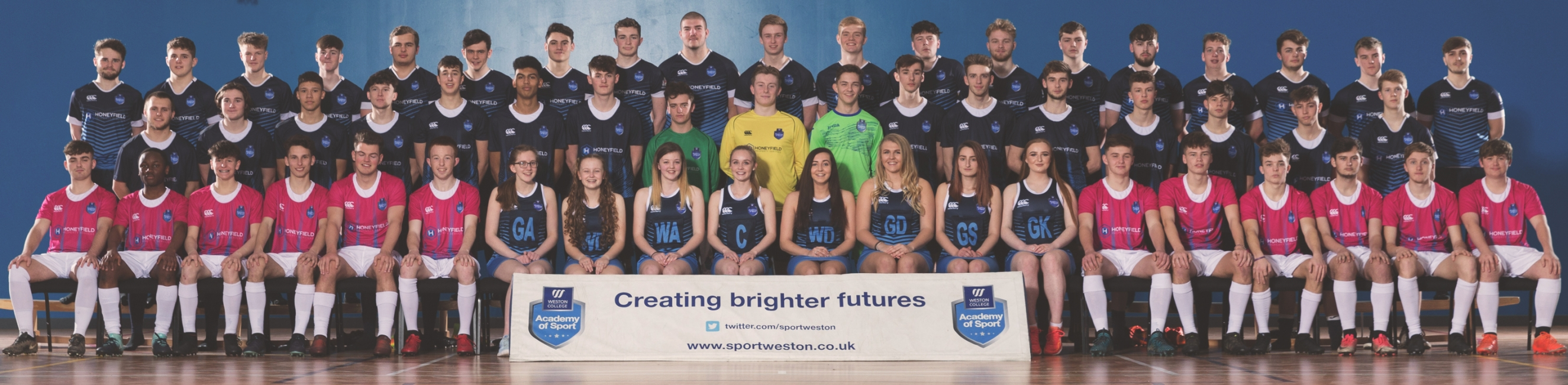 Weston College students, Sports Academy, Higher and Further education