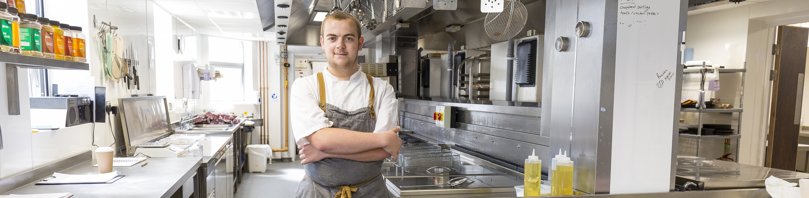 Weston College Student, Further Education 16-18, kitchen, chef