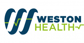 Weston health logo, discover health and social care courses with Weston College