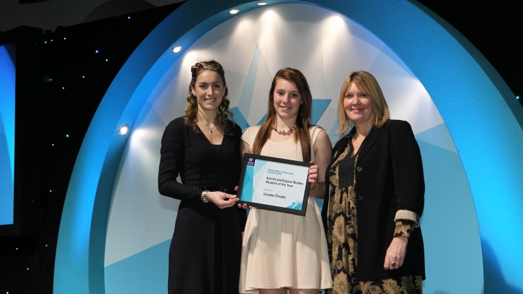Celebration of Success awards, and recipient Louise